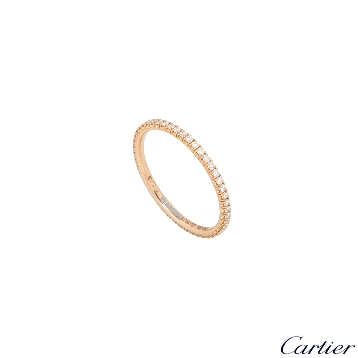 Cartier Rose Gold Diamond Etincelle Ring B4210551